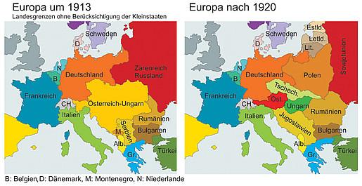 deutschland nach dem 1 weltkrieg karte Der Erste Weltkrieg und seine Folgen   DemokratieWEBstatt.at